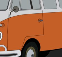 VW type 2 T1 microbus brown Sticker