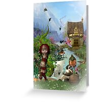 The Fairy Tale Book Greeting Card Greeting Card