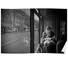 Reading in the bus Poster