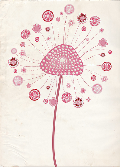 Pretty Painted Dandelion by Pip Gerard