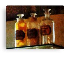Apothecary Bottles Canvas Print