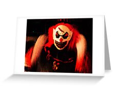 Killer Clown Greeting Card