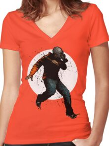 Onward Ever Downwards Women's Fitted V-Neck T-Shirt