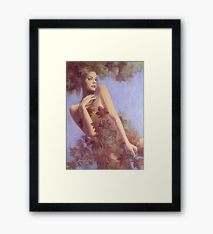 Fall...in Love.... Framed Print