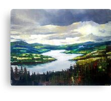 Through the clouds, nature landscape Canvas Print