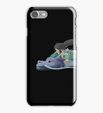 Chihiro meets Falcor iPhone Case/Skin