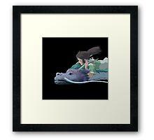 Chihiro meets Falcor Framed Print