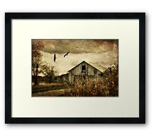 On The Wings Of Change Framed Print