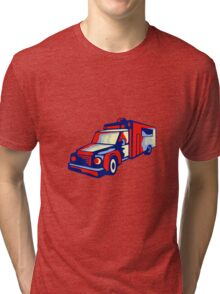 Ambulance Emergency Vehicle Retro Tri-blend T-Shirt