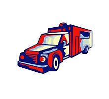 Ambulance Emergency Vehicle Retro Photographic Print