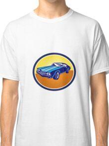 American Vintage Muscle Car Rear Retro Classic T-Shirt