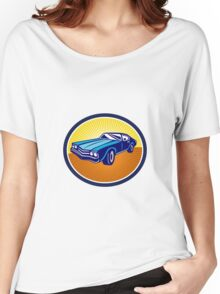American Vintage Muscle Car Rear Retro Women's Relaxed Fit T-Shirt