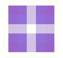 Violet & Purple Textured Plaid Pattern Art Print