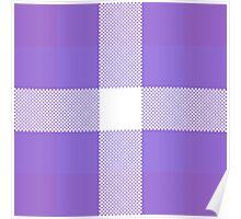 Violet & Purple Textured Plaid Pattern Poster