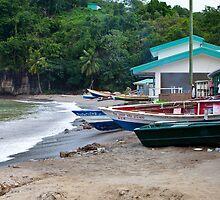 Fishing Village by Bob Vaughan