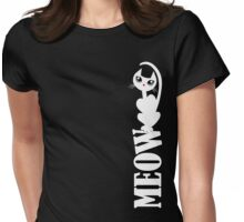 MEOW (white kitty) Womens Fitted T-Shirt