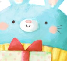Cute Christmas Bunny Sticker