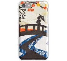 Geisha on Bridge iPhone Case/Skin