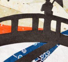Geisha on Bridge Sticker