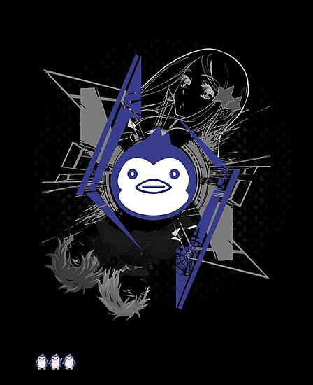 Mawaru PenguinDrum T-shirt by Kaytwo