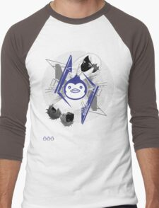 Mawaru PenguinDrum T-shirt Men's Baseball ¾ T-Shirt