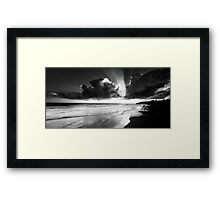 Waiting for the right wave... Framed Print