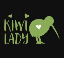 KIWI LADY cute kiwi bird One Piece - Short Sleeve