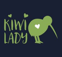 KIWI LADY cute kiwi bird Kids Tee