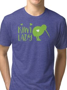 KIWI LADY cute kiwi bird Tri-blend T-Shirt