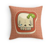 Dead Meat Skullworm Throw Pillow