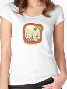 Dead Meat Skullworm Women's Fitted Scoop T-Shirt