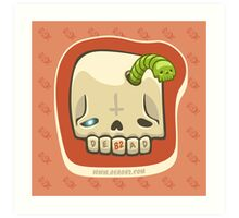 Dead Meat Skullworm Art Print
