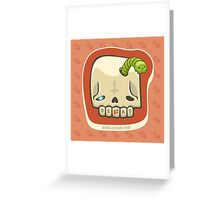 Dead Meat Skullworm Greeting Card