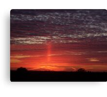 Cross in the sunset Canvas Print