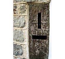 Early 19th-Century Wooden Post Box, Lyme Regis, Dorset, UK Photographic Print