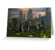 Fantasy Scouts 2 _ CRT format Greeting Card