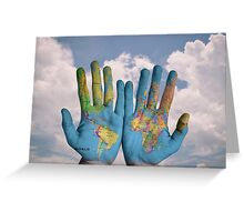 Hands of the world Greeting Card