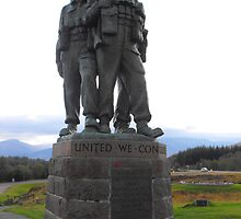 Spean Bridge Commando Memorial by mike  jordan.