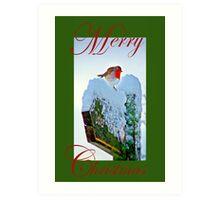 Red Robin Christmas Card Art Print