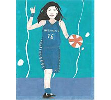 Atlantis Torrenstone playing basketball Photographic Print