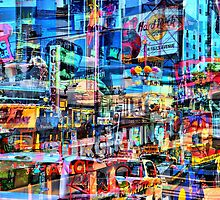 Neon Crowd  by HighHeadArtwork