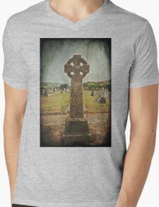 Celtic Cross Mens V-Neck T-Shirt