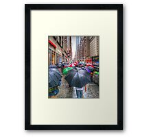 Umbrellas Framed Print