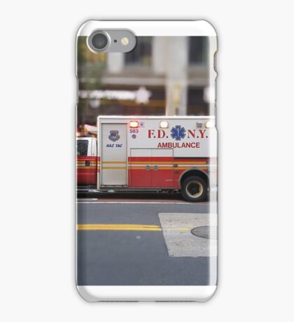 FDNY Ambulance in New York City iPhone Case/Skin