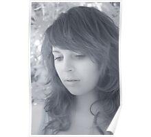 Girl in Olive Tree Infrared - Puglia, Italy Poster