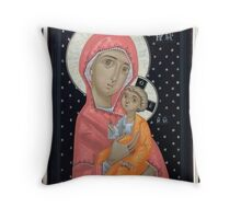 Virgin Mary and the Child Jesus Throw Pillow