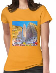 The Empire State Building at Sundown Womens Fitted T-Shirt