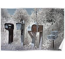 Waiting for the Mailman - Dunrobin Ontario Poster