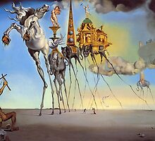 Salvador Dali - The Temptation of St. Anthony by arialite