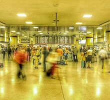 Rush hour at Penn Station New York, NY by blipton